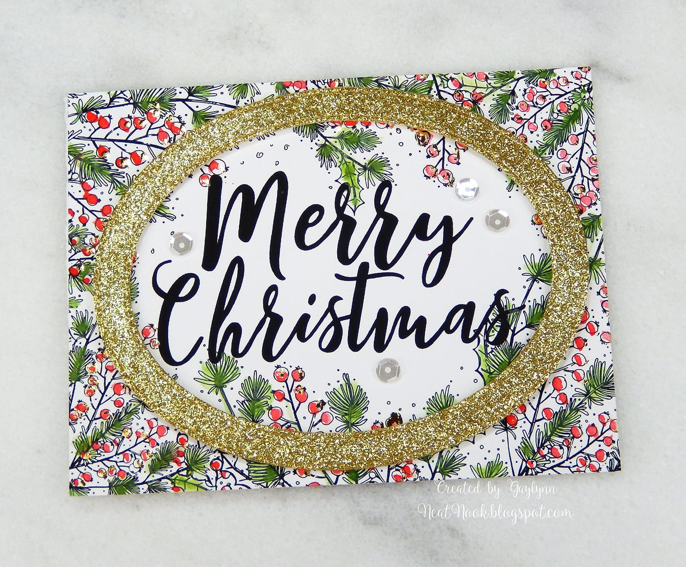 Gold foil, glitter and watercolor Christmas card. - Unity Blog