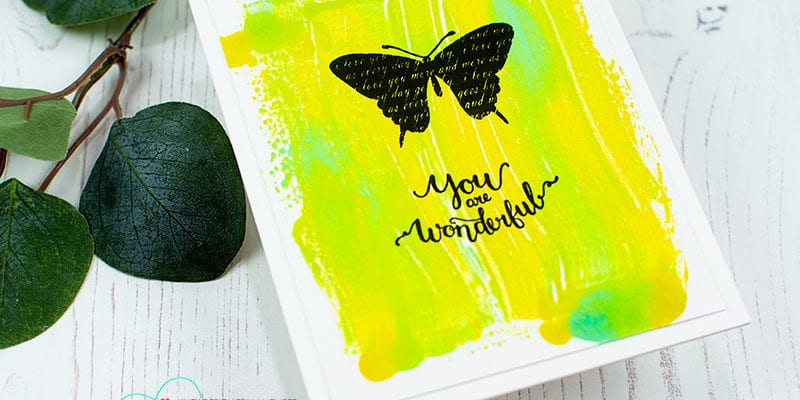Mirror Tool Technique – Distress Ink and Brayer
