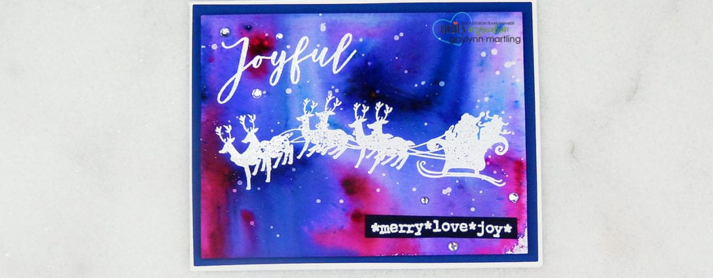 Color burst watercolor holiday card and video.