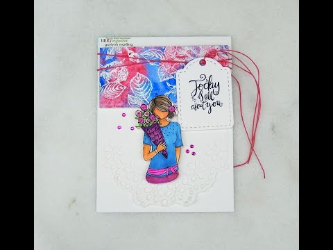 Unity Quick Tip: Planner Girl Card with Stamped Floral Accent
